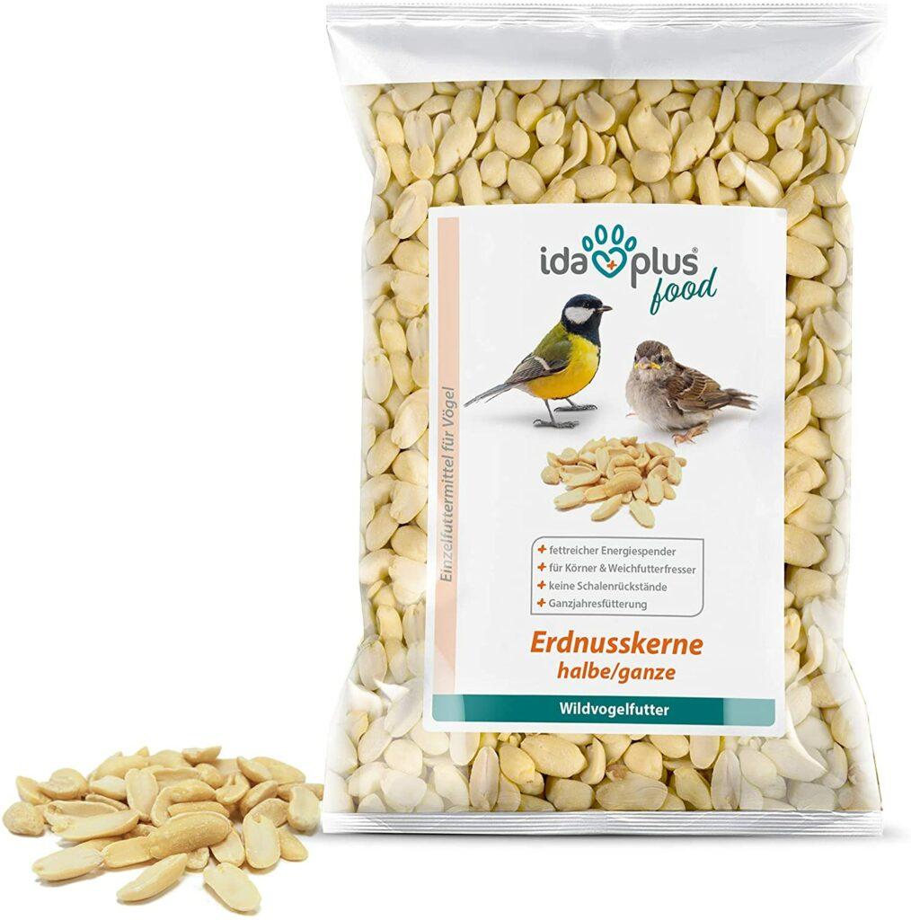 Erdnusskerne als Vogelfutter